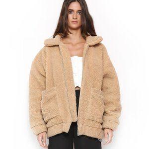 I.am Gia pixie teddy coat size medium